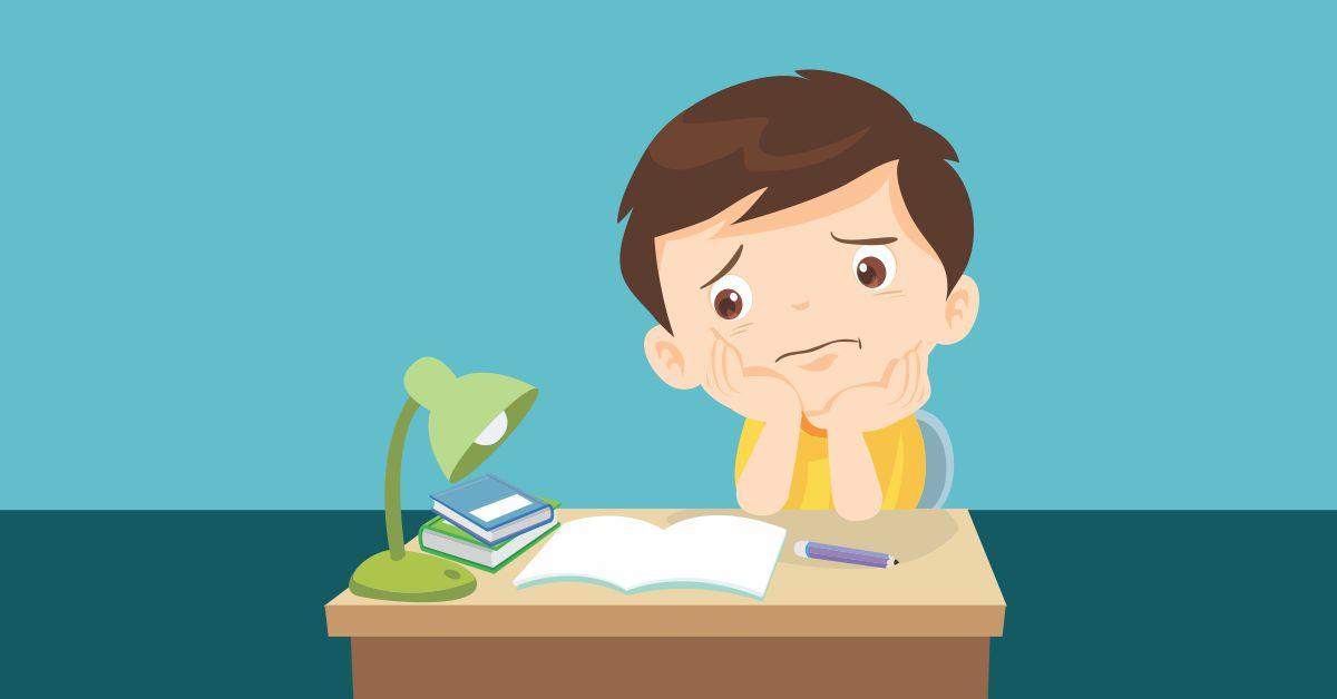 Filho não gosta de estudar